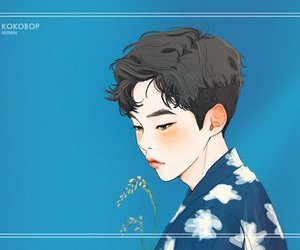 exo, fanart, and xiumin image