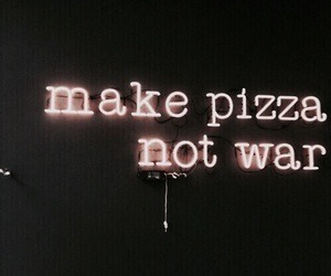 neon, aesthetic, and pizza image