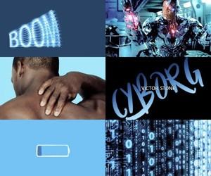 aesthetic, blue, and cyborg image