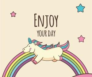 unicorn, wallpaper, and enjoy image