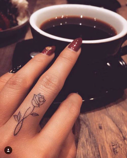 finger, nails, and tattoo image