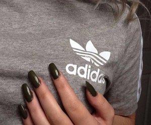 adidas, nails, and grey image