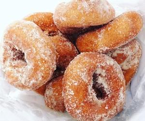 donuts, sugar, and food image