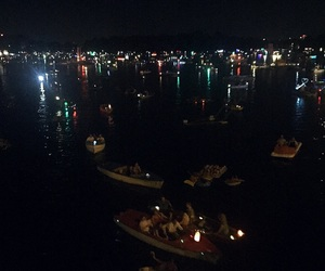 austria, boats, and city lights image