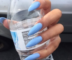 nails, blue, and water image