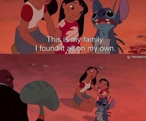 family, disney, and stitch image