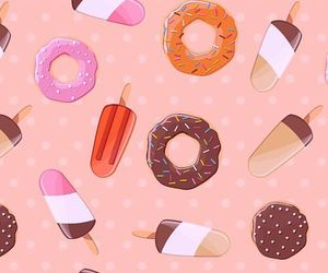 donuts, ice cream, and wallpaper image
