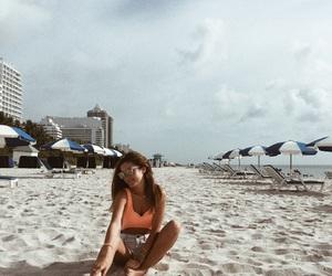 beach, girl, and Miami image