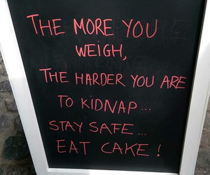 cake, funny, and food image