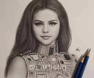 art, selena, and drawing image