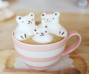 bear, coffee, and drink image