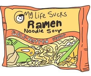 food, ramen, and art image