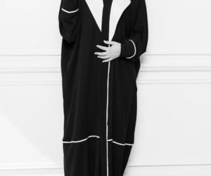 black, we heart it, and abaya image