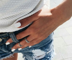 fashion, jeans, and jewellery image