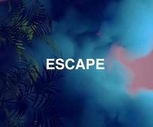 aesthetic, blue, and escape image