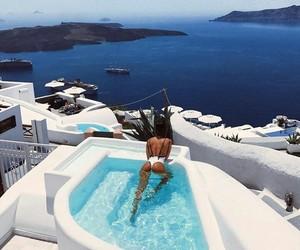 santorini, Greece, and summer image