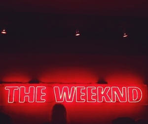 red, the weeknd, and neon image