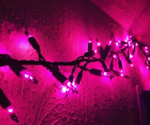 pink, aesthetic, and lights image