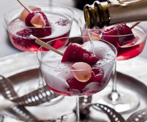 champagne, drink, and food image