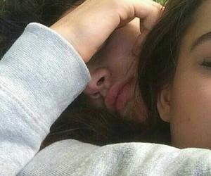 couples, lips, and sleeping image