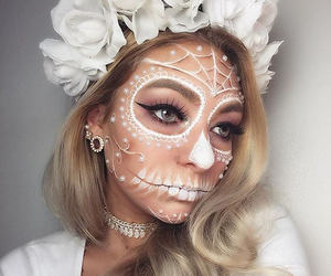 girl, makeup, and Halloween image