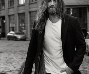 beard, beautiful man, and model image