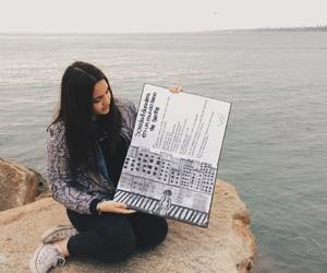 drawing, ocean, and sea image