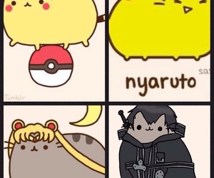 anime, cat, and naruto image