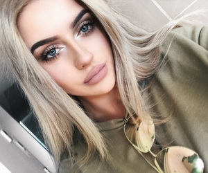 blonde, blue eyes, and eyebrows image
