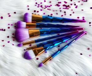 beauty, Brushes, and colourful image