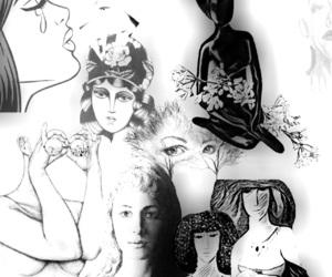art, black, and hair image
