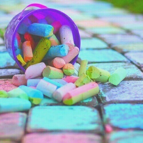 colors, chalk, and photography image