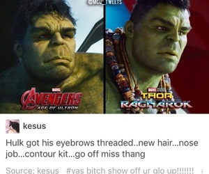 funny, Hulk, and Marvel image