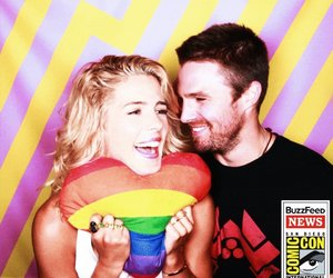 stephen amell and emily bett rickards image