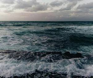 waves, calm, and landscape image