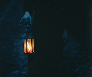 dark, candle, and light image