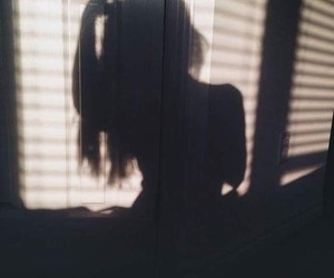 girl, shadow, and tumblr image