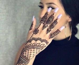 henna, tatto, and nails image