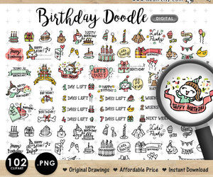 doodle, etsy, and girly image