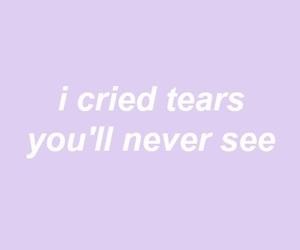 quotes, purple, and sad image