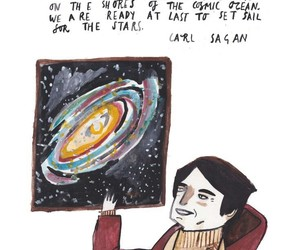 carl sagan, quote, and space image