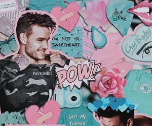 liam payne, pink, and 1d image
