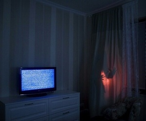 aesthetic, dark, and tv image