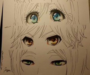 anime, art, and eyes image