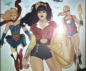 super girl, wonder woman, and dc comics image