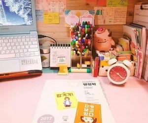 desk, kawaii, and korean image