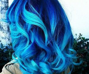 blue hair, hair style, and fashion image
