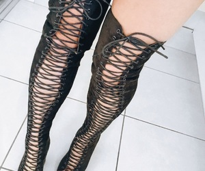 boots, clean, and lace image
