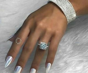 nails, diamond, and bracelet image
