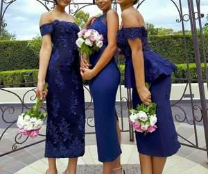 beautiful, bridesmaids, and royal blue image